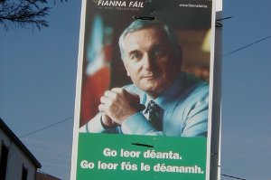 Poster 2002 election Taoiseach Bertie Ahern