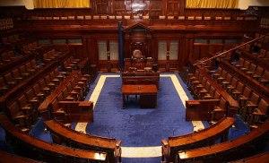 Photo: Empty Dáil chamber