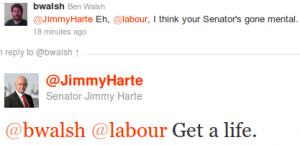 "Jimmy Harte tweet: ""Get a life"""