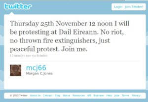 Morgan C Jones' twitter call for silent protest