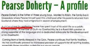 Image: Pearse Doherty electon literature