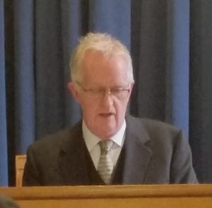 Mr Justice Peter Charleton reads the opening statement at the Disclosures tribunal